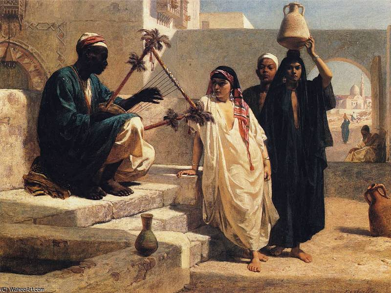 The Song of the Nubian Slave by Frederick Goodall (1822-1904, United Kingdom) | WahooArt.com