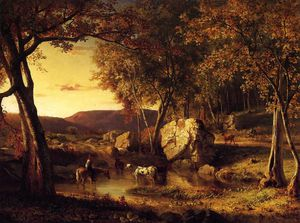 George Inness - summer days cattle drinking late summer early autumn