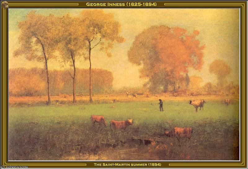 The Saint-Martin Summer, 1894 by George Inness (1825-1894, United States) | Paintings Reproductions George Inness | WahooArt.com