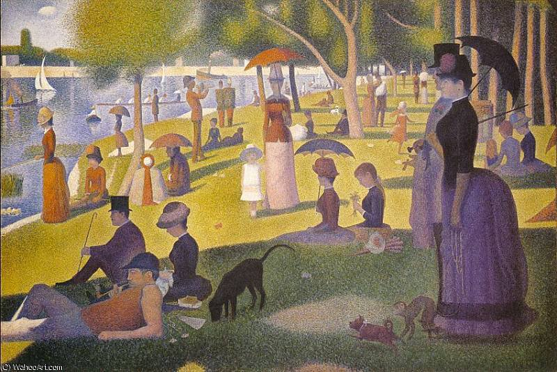 A Sunday Afternoon on the Island of La Grande Jatte by Georges Pierre Seurat (1859-1891, France) | WahooArt.com