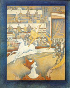 Order Art Reproduction : cirque, 1891 by Georges Pierre Seurat (1859-1891, France) | WahooArt.com