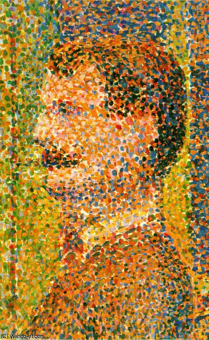 Parade de cirque (detail) -, 1888 by Georges Pierre Seurat (1859-1891, France) | Oil Painting | WahooArt.com