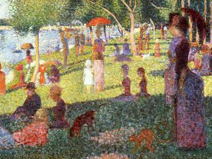 Georges Pierre Seurat - Sunday Afternoon on the Isle of Lan Grande Jatte