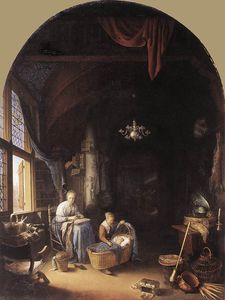 Gerrit Dou - young mother