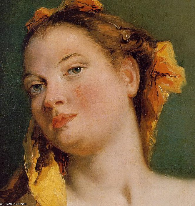 Order Paintings Reproductions | mandolin (detail) by Giovanni Battista Tiepolo (2007-1770, Italy) | WahooArt.com