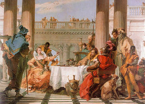 Giovanni Battista Tiepolo - The Banquet of Cleopatra - oil on canvas -
