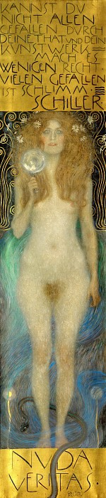 Nuda Veritas (Naked Truth) by Gustav Klimt (1862-1918, Austria) | Art Reproductions Gustav Klimt | WahooArt.com