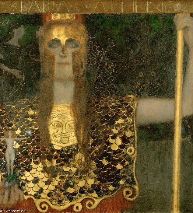 Order Paintings Reproductions | pallas athene by Gustav Klimt (1862-1918, Austria) | WahooArt.com