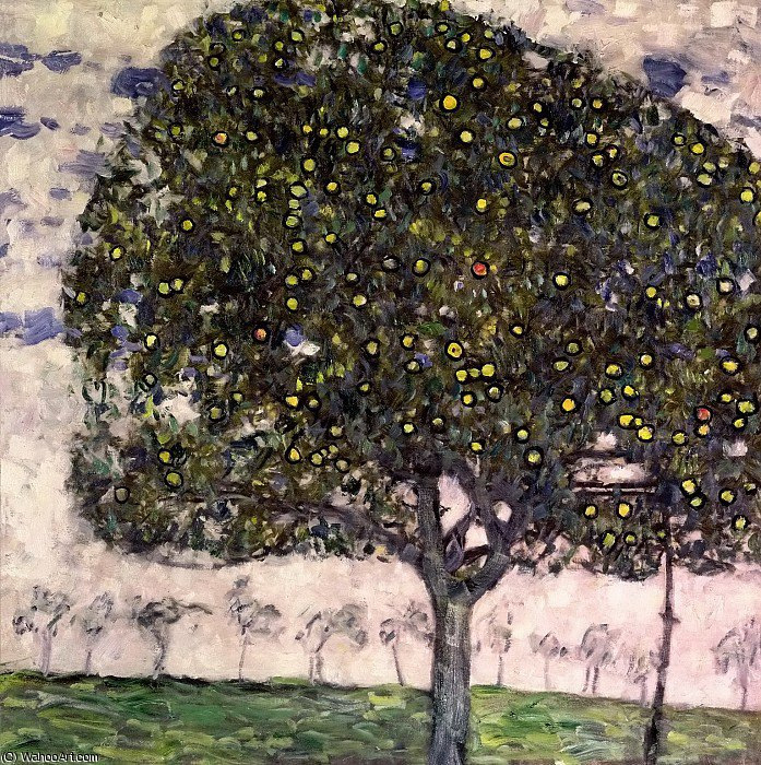 the apple tree, 1912 by Gustav Klimt (1862-1918, Austria)