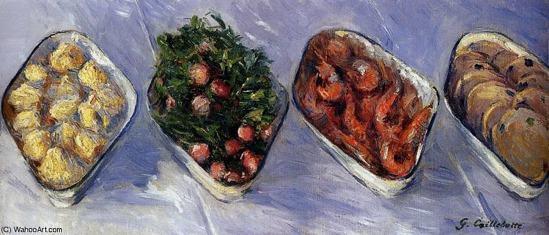 hors d oeuvre by Gustave Caillebotte (1848-1894, France) | WahooArt.com