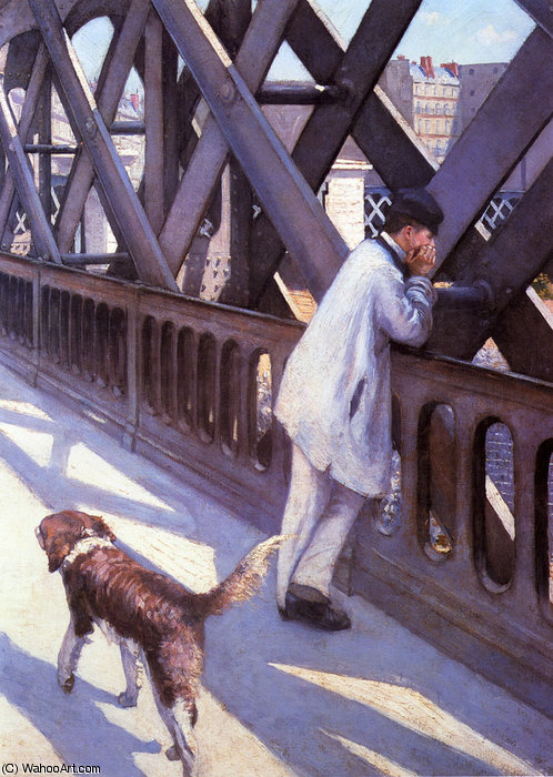 L'Europe Le Pont by Gustave Caillebotte (1848-1894, France)