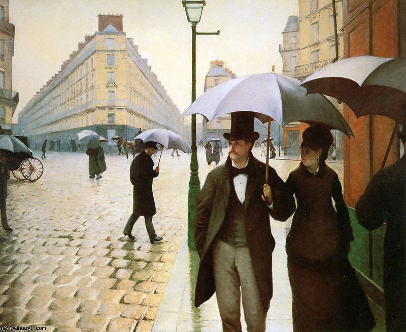 Paris place de l Europe by Gustave Caillebotte (1848-1894, France)