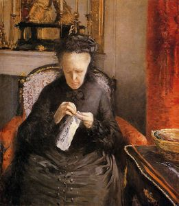 Portait of Madame Martial Caillebote the artist's mother by Gustave Caillebotte  (order Fine Art oil painting Gustave Caillebotte)