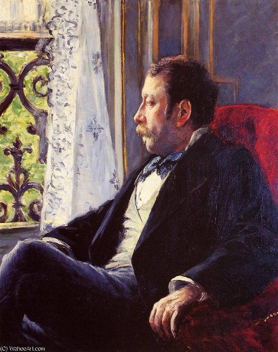 Portrait of a Man by Gustave Caillebotte (1848-1894, France) | Oil Painting | WahooArt.com