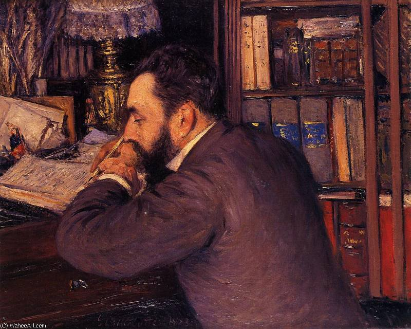 Portrait of Henri Cordier by Gustave Caillebotte (1848-1894, France)