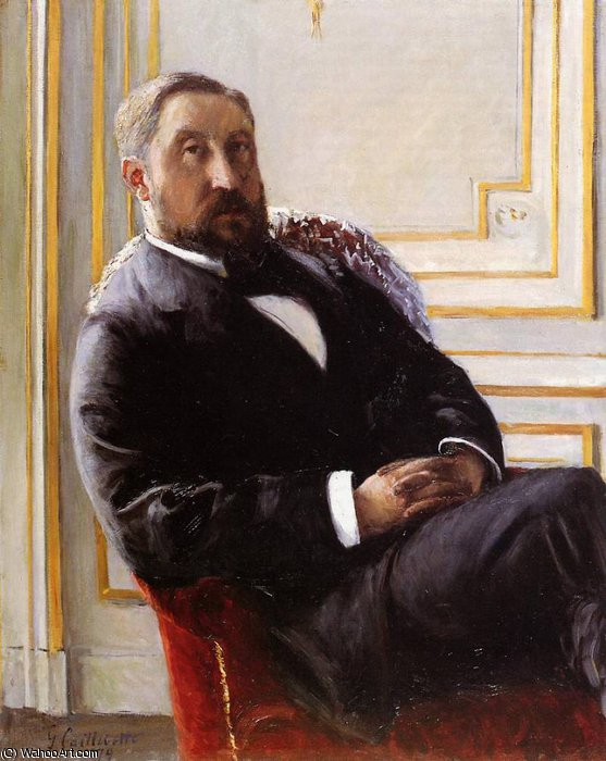 Portrait of Jules Richemont by Gustave Caillebotte (1848-1894, France)