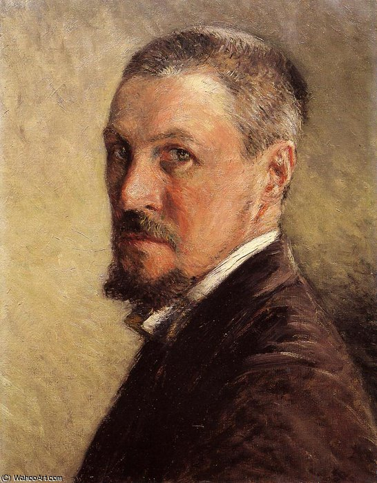 self portrait by Gustave Caillebotte (1848-1894, France)