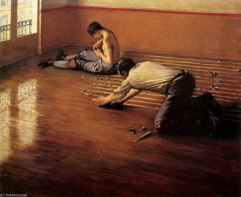The floor scrapers Sun by Gustave Caillebotte (1848-1894, France)