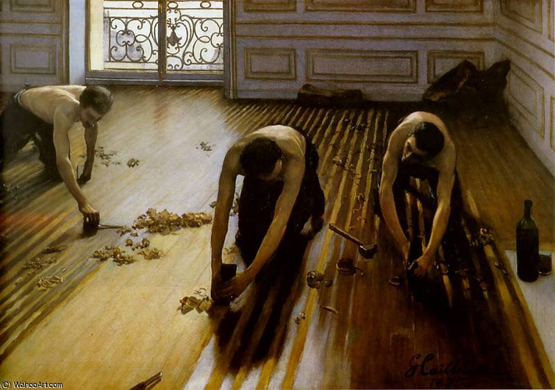 floor strippers by Gustave Caillebotte (1848-1894, France)