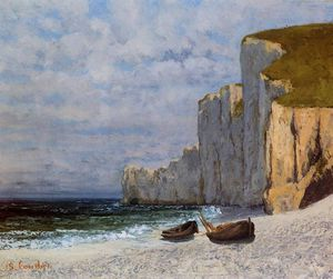 Gustave Courbet - A Bay with Cliffs