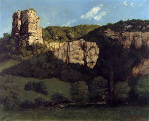 Gustave Courbet - Landscape Bald Rock in the Valley of Ornans