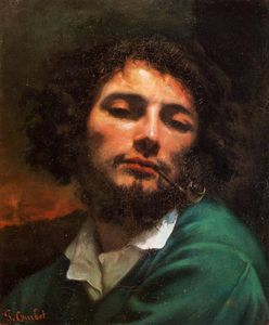 Gustave Courbet - Portrait of the Artist aka Man with a Pipe