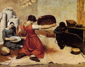 Gustave Courbet - the grain sifters