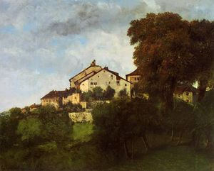 Gustave Courbet - The Houses of the Chateau d_Ornans