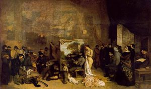 Gustave Courbet - the painters studio. a real allegory