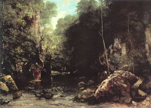 Gustave Courbet - The Shaded Stream The Stream of the Puits Noir