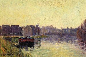 Gustave Loiseau - Barges on the Oise