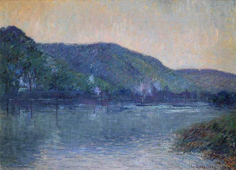 Boats on the Seine at Oissel, 1909 by Gustave Loiseau (1865-1935, France)