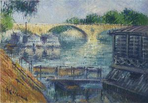 Gustave Loiseau - Boats on the Seine