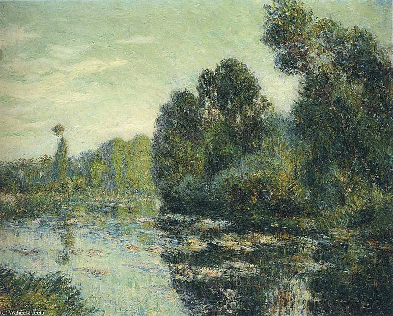 By the River Eure, 1906 by Gustave Loiseau (1865-1935, France) | Art Reproduction | WahooArt.com
