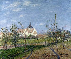 Gustave Loiseau - Church at Notre Dame at Vaudreuil
