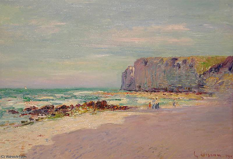 Cliffs at Petit Dalles Normandy, 1908 by Gustave Loiseau (1865-1935, France) | Painting Copy | WahooArt.com