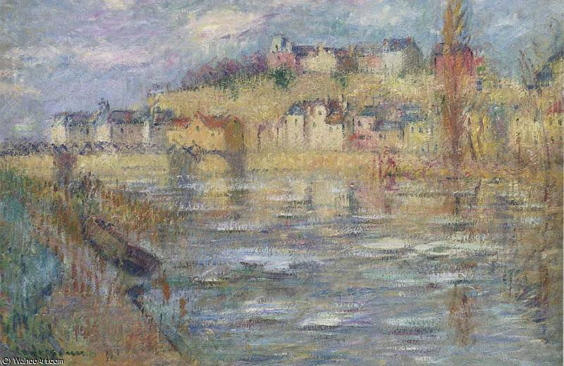 Ice on the Oise river by Gustave Loiseau (1865-1935, France) | Famous Paintings Reproductions | WahooArt.com