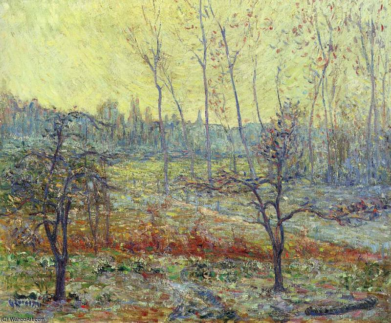 Landscape in Winter with Fog, 1897 by Gustave Loiseau (1865-1935, France) | Museum Quality Reproductions | WahooArt.com