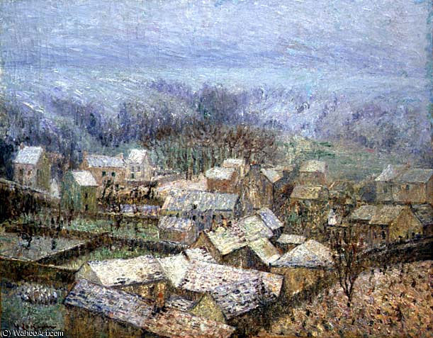 Winter at Pontoise by Gustave Loiseau (1865-1935, France) | Museum Quality Reproductions | WahooArt.com