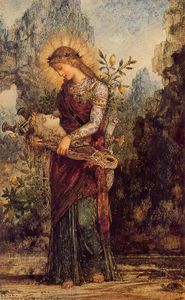 Gustave Moreau - Thracian Girl Carrying the Head of Orpheus
