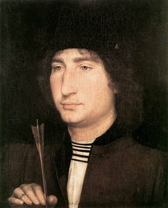 Hans Memling - Portrait of a Man with an Arrow