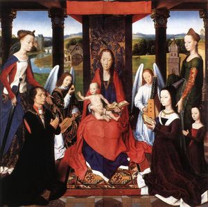 Hans Memling - The Donne Triptych (detail 2) - (central panel)