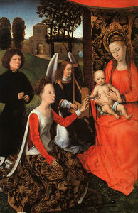 Hans Memling - the marriage of st. catherine (detail)