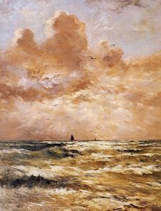 Hendrik Willem Mesdag - back from sea sun