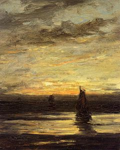 Hendrik Willem Mesdag - fishing boats at dusk