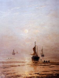 Hendrik Willem Mesdag - summer evening scheveningen sun