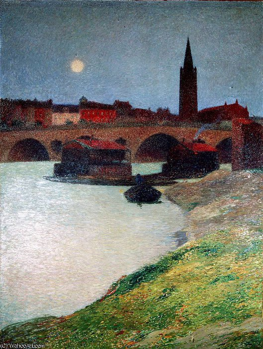 Le Pont neuf et la Dalbade by Henri Jean Guillaume Martin (1860-1860, France) | Art Reproduction | WahooArt.com