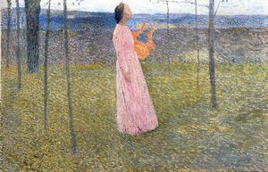 Henri Jean Guillaume Martin - Muse in the Fields