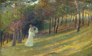 Henri Jean Guillaume Martin - Orpheus in a Wood