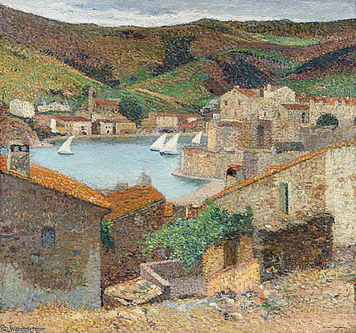 port collioure by Henri Jean Guillaume Martin (1860-1860, France) | Museum Quality Reproductions | WahooArt.com
